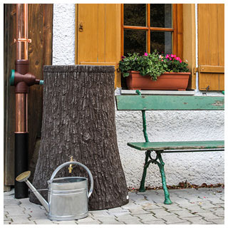 Regentonne Little Tree 250 L dunkelbraun
